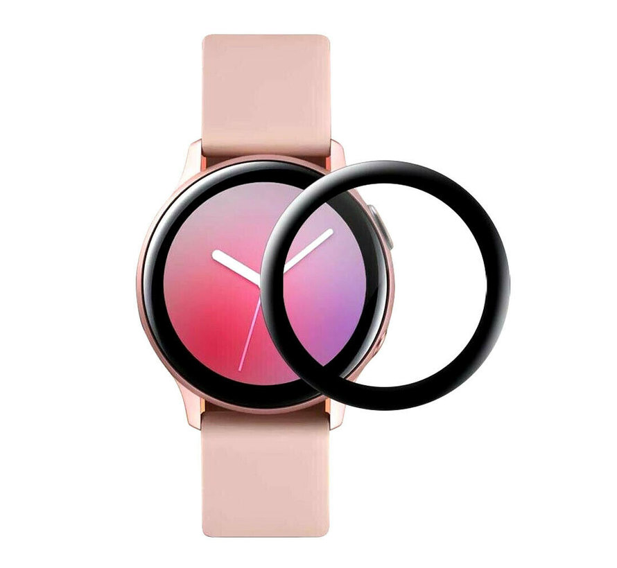 Strap-it® Samsung Galaxy Watch Active 2 40mm full cover screenprotector (glas)