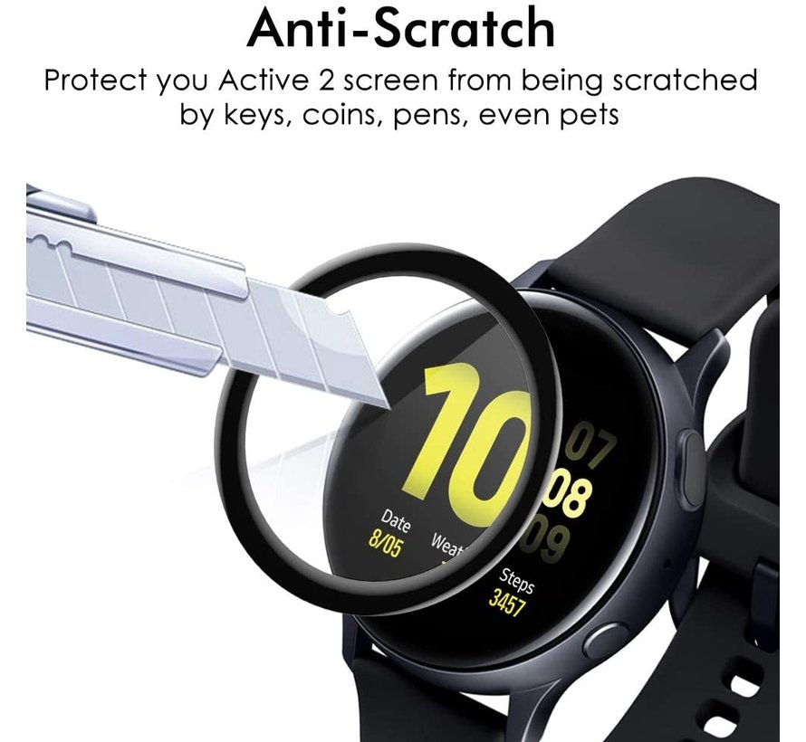Strap-it® Samsung Galaxy Watch Active 2 44mm full cover screenprotector (glas)