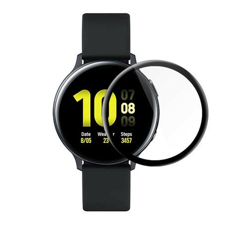 Strap-it® Strap-it® Samsung Galaxy Watch Active 2 44mm full cover screenprotector (glas)