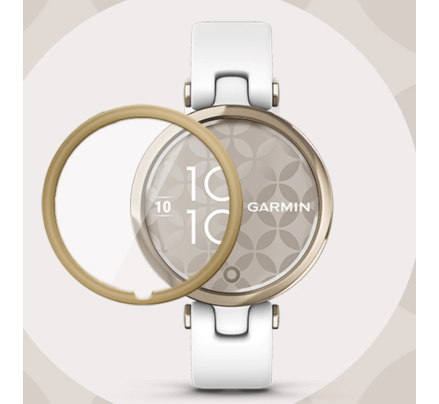 Strap-it® Garmin Lily full cover screenprotector (goud)