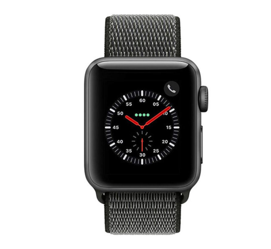 Strap-it® Apple Watch nylon loop band (groen)