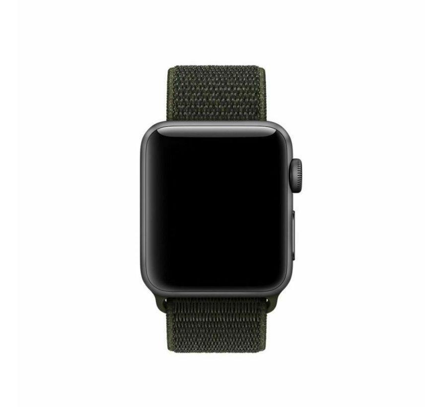 Strap-it® Apple Watch nylon band (donkergroen)