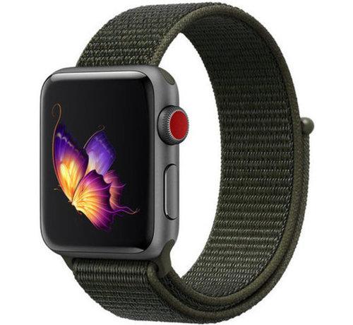 Strap-it® Strap-it® Apple Watch nylon band (donkergroen)