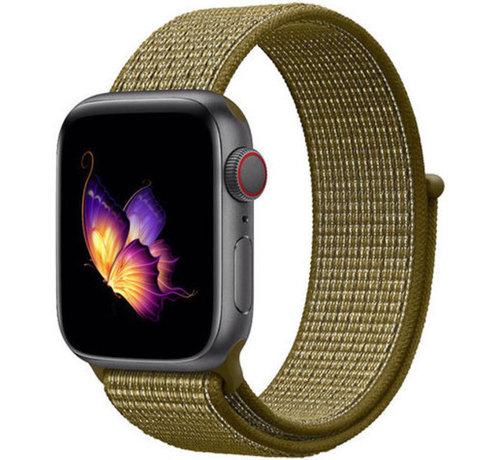 Strap-it® Strap-it® Apple Watch nylon band (olijf)