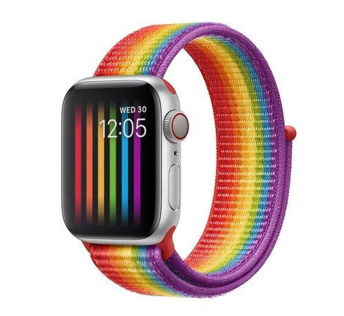 Strap-it® Strap-it® Apple Watch nylon band (regenboog)