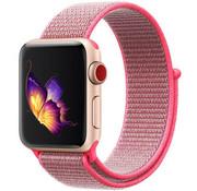 Strap-it® Apple Watch nylon band (roze)