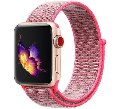 Strap-it® Strap-it® Apple Watch nylon loop band (roze)