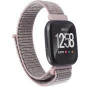 Strap-it® Fitbit Versa nylon bandje (roze)