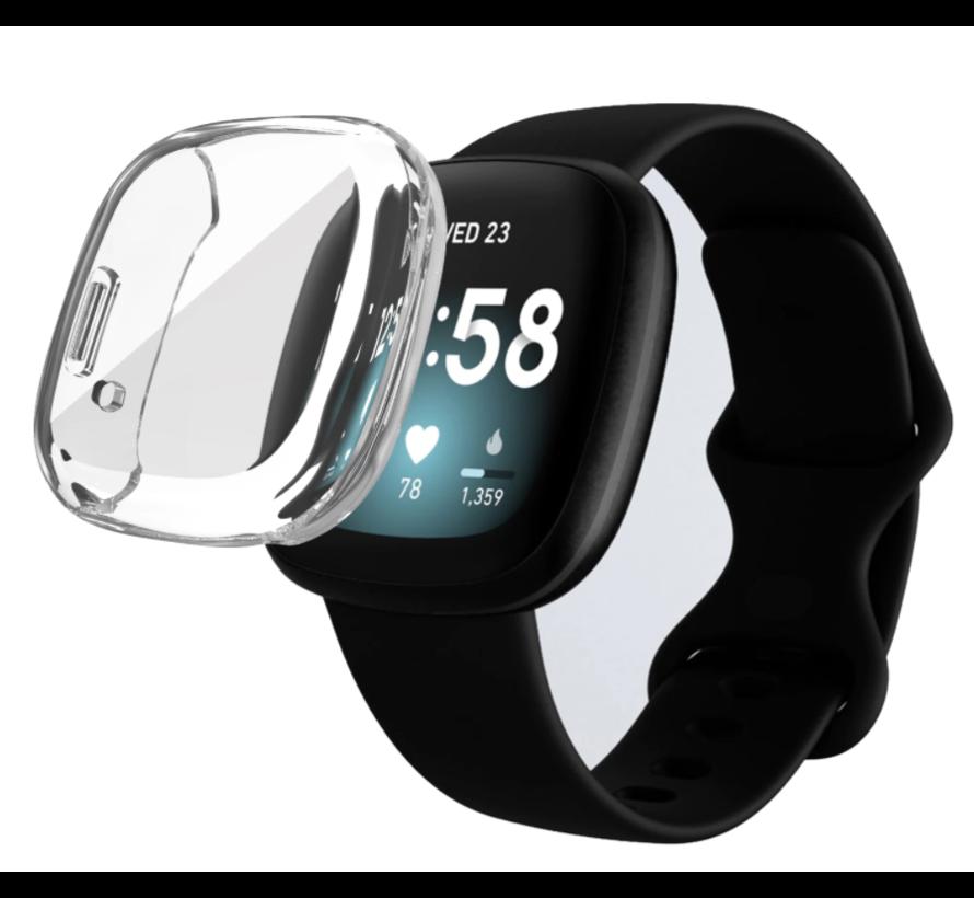 Strap-it® Fitbit Sense silicone case (transparant)