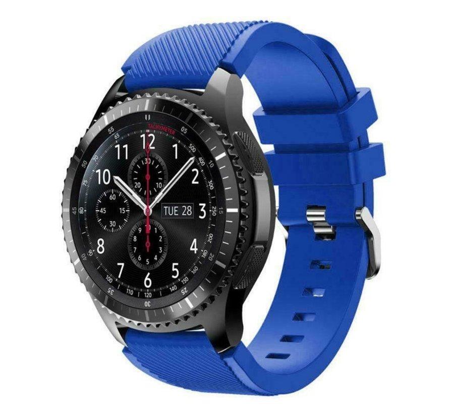 Strap-it® Samsung Galaxy Watch siliconen bandje 45mm / 46mm (blauw)