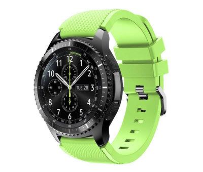 Strap-it® Strap-it® Samsung Galaxy Watch siliconen bandje 45mm / 46mm (lichtgroen)