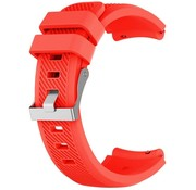 Strap-it® Siliconen horlogeband 20mm - universeel - rood