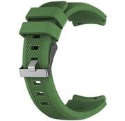 Strap-it® Siliconen horlogeband 20mm - universeel - donkergroen