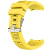 Strap-it® Siliconen horlogeband 20mm - universeel - geel
