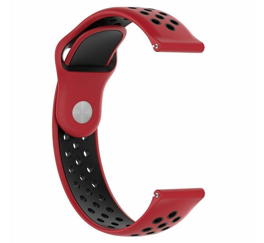 Strap-it® Rubber horlogeband 20mm sport universeel (rood/zwart)