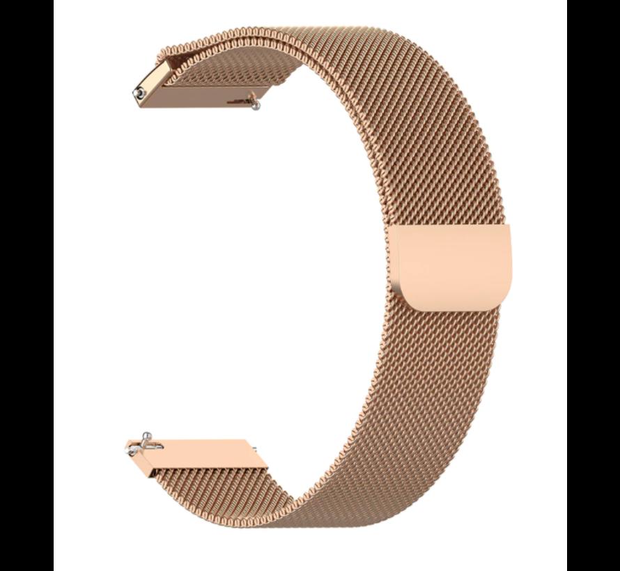 Strap-it® Milanese horlogeband 20mm - universeel - rosé goud
