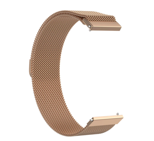Strap-it® Strap-it® Milanese horlogeband 20mm - universeel - rosé goud