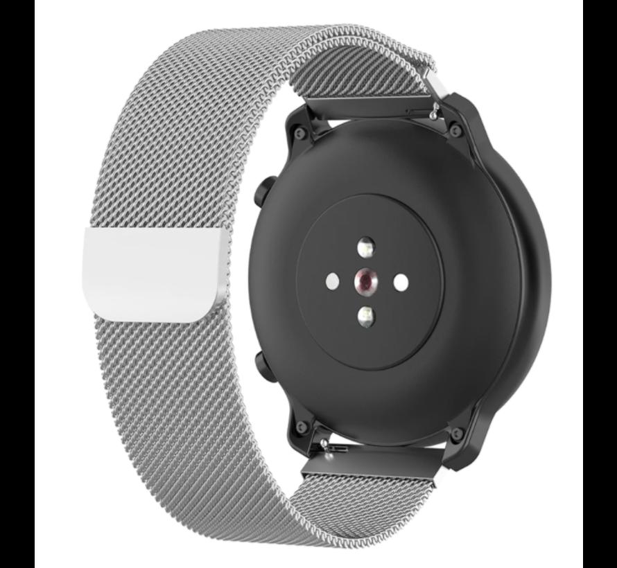 Strap-it® Milanese horlogeband 20mm - universeel - zilver