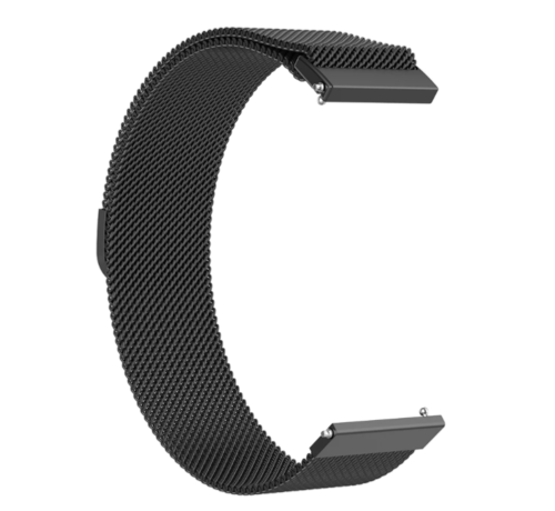 Strap-it® Strap-it® Milanese horlogeband 20mm - universeel - zwart
