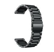 Strap-it® Stalen horlogeband 20mm - universeel - zwart