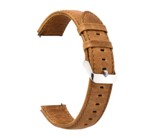 Strap-it® Strap-it® Leren horlogeband 20mm - universeel - bruin
