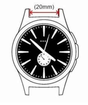 horlogeband 20mm opmeten