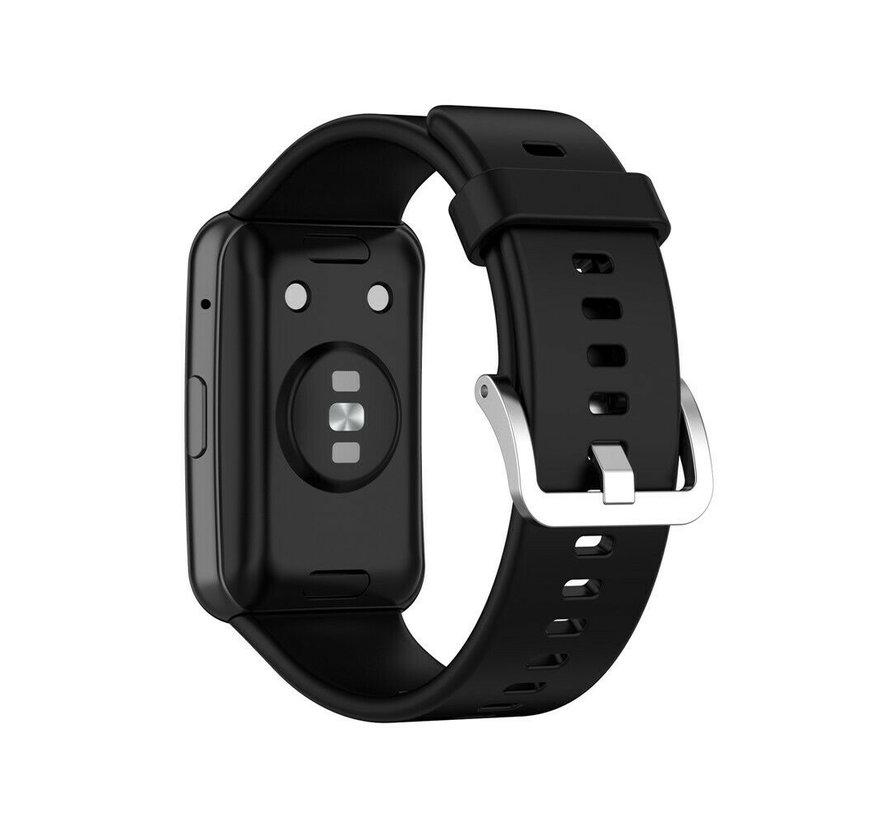 Strap-it® Huawei Watch Fit siliconen bandje (zwart)