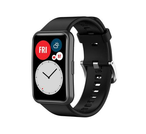 Strap-it® Strap-it® Huawei Watch Fit siliconen bandje (zwart)