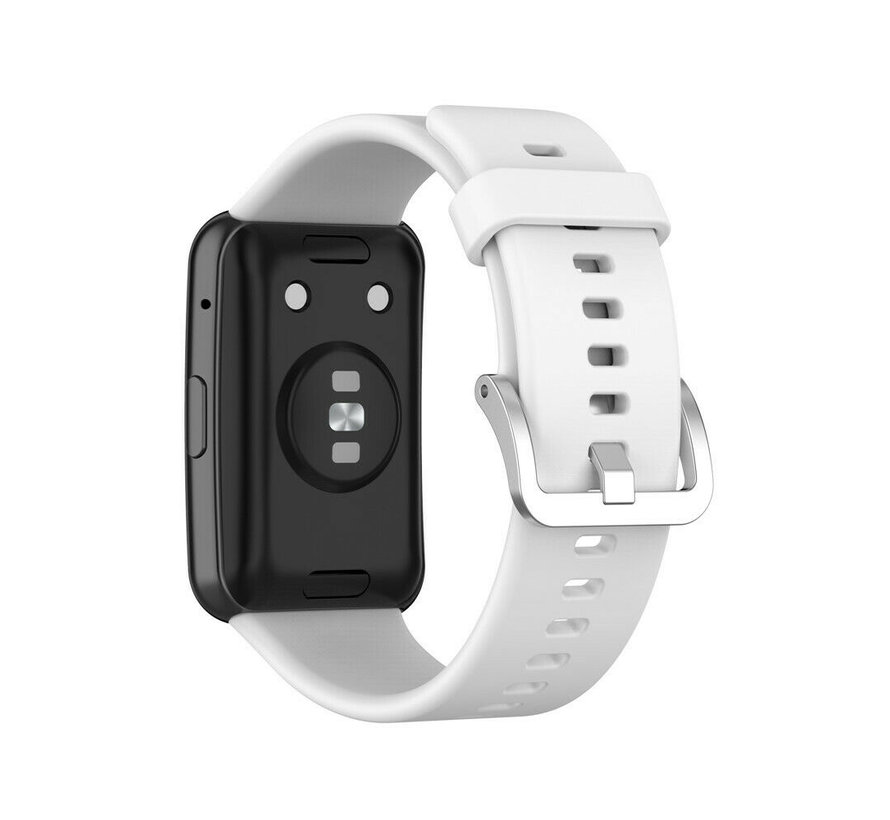 Strap-it® Huawei Watch Fit siliconen bandje (wit)