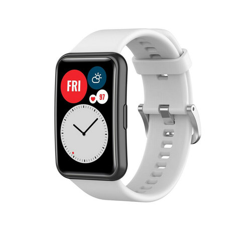 Strap-it® Strap-it® Huawei Watch Fit siliconen bandje (wit)
