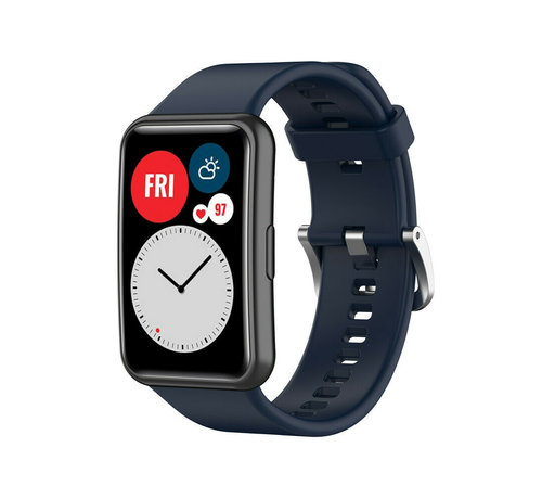 Strap-it® Strap-it® Huawei Watch Fit siliconen bandje (donkerblauw)