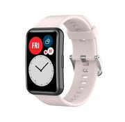 Strap-it® Huawei Watch Fit siliconen bandje (lichtroze)