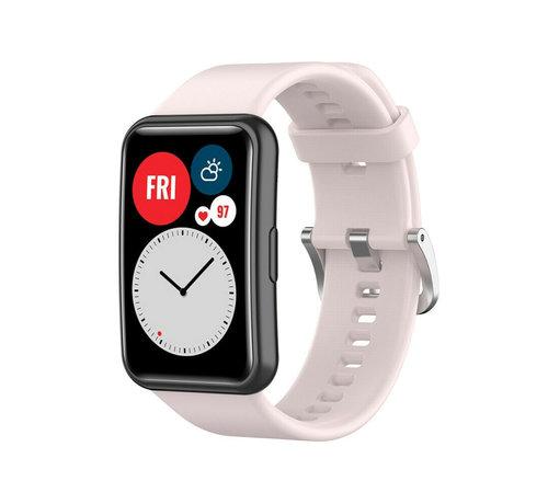 Strap-it® Strap-it® Huawei Watch Fit siliconen bandje (lichtroze)