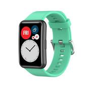 Strap-it® Huawei Watch Fit siliconen bandje (aqua)