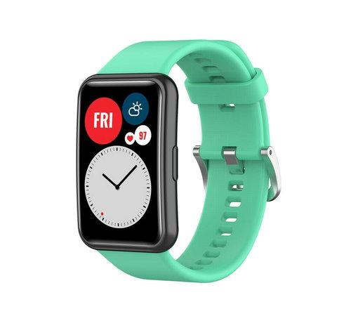 Strap-it® Strap-it® Huawei Watch Fit siliconen bandje (aqua)