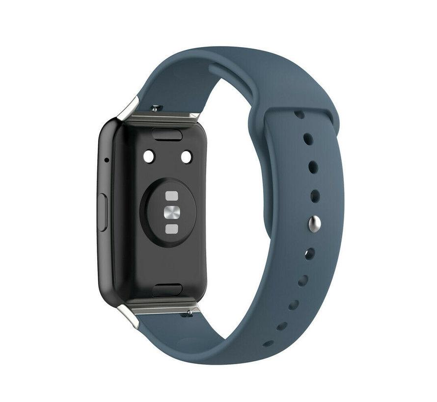 Strap-it® Huawei Watch Fit sport bandje (blauwgrijs)