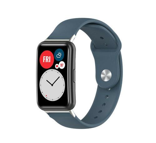 Strap-it® Strap-it® Huawei Watch Fit sport bandje (blauwgrijs)