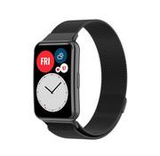 Strap-it® Huawei Watch Fit Milanese band (zwart)