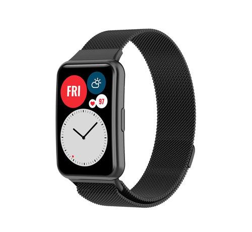 Strap-it® Strap-it® Huawei Watch Fit Milanese band (zwart)