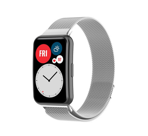 Strap-it® Strap-it® Huawei Watch Fit Milanese band (zilver)
