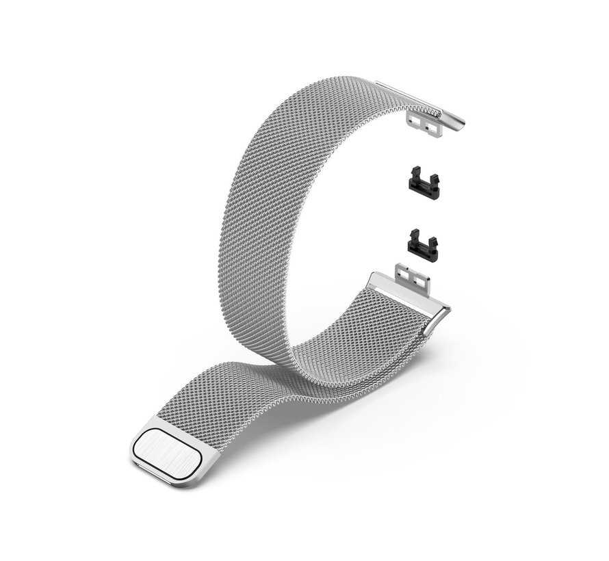 Strap-it® Huawei Watch Fit Milanese band (zilver)