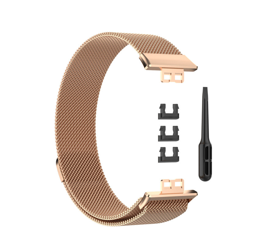 Strap-it® Huawei Watch Fit Milanese band (rosé goud)