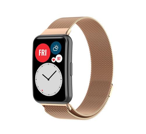 Strap-it® Strap-it® Huawei Watch Fit Milanese band (rosé goud)