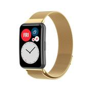 Strap-it® Huawei Watch Fit Milanese band (goud)