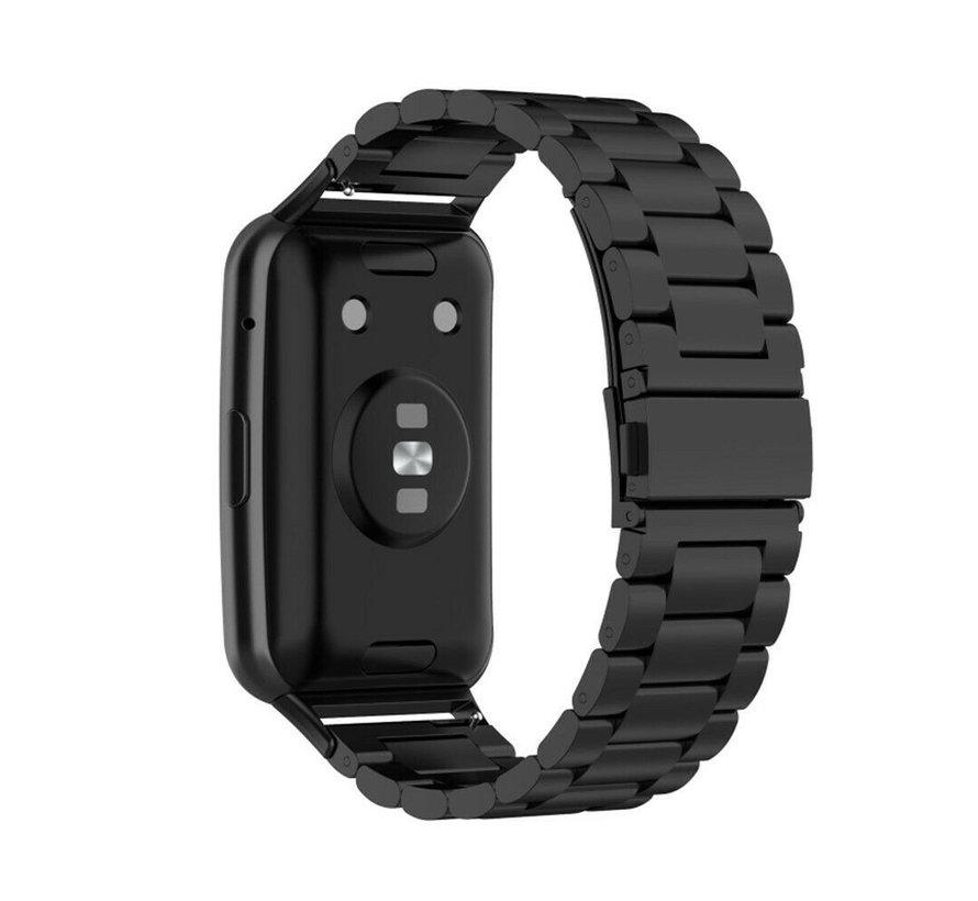 Strap-it® Huawei Watch Fit stalen band (zwart)