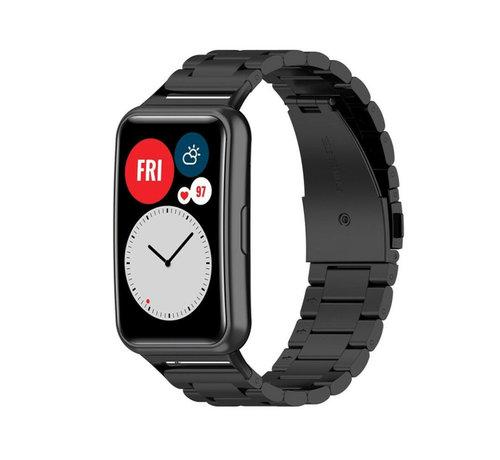 Strap-it® Strap-it® Huawei Watch Fit stalen band (zwart)