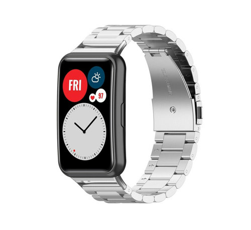 Strap-it® Strap-it® Huawei Watch Fit stalen band (zilver)