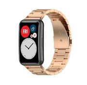 Strap-it® Huawei Watch Fit stalen band (rosé goud)