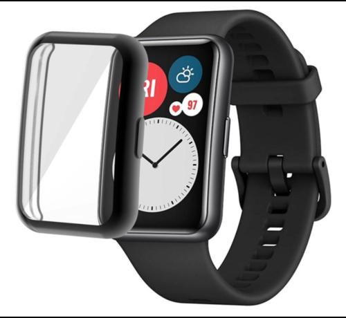 Strap-it® Strap-it® Huawei Watch Fit TPU beschermhoes (zwart)