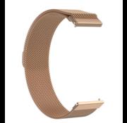 Strap-it® Milanese horlogeband 22mm - universeel - rosé goud